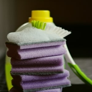Cleaning Products With Sponge