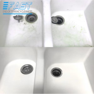 Cleaning of a Sink Before and After
